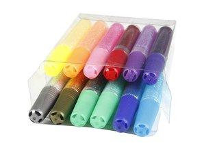 BASTELZUBEHÖR / CRAFT ACCESSORIES Glitter glue, Assortment, 10 ml, ranked 12