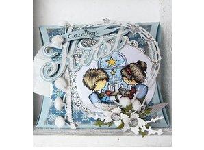 Marianne Design Presning og prægning stencils, Marianne Design, Craftables - Stars Semi Circle