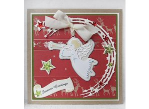 Marianne Design Stamping and embossing stencils, Marianne Design, Craftables - Stars Semi Circle