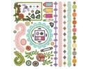 Sticker Adesivi fiore Indie, 30,5 x 30,5 centimetri