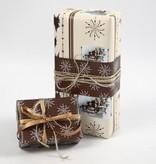 DEKOBAND / RIBBONS / RUBANS ... Cadena de papel, color beige armonía / marrón, 3x10 m
