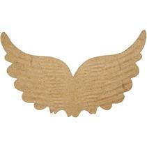 1 Flügel mit Prägungen, B: 21 cm, H: 13 cm
