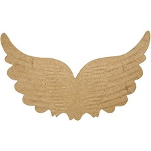 Objekten zum Dekorieren / objects for decorating 1 Flügel mit Prägungen, B: 21 cm, H: 13 cm