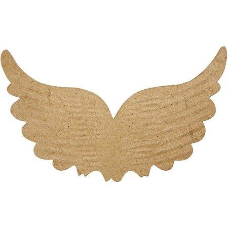 Objekten zum Dekorieren / objects for decorating 1 vinge med aftryk, B: 21 cm, H: 13 cm