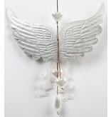 Objekten zum Dekorieren / objects for decorating 1 vleugel met imprints, B: 21 cm H: 13 cm