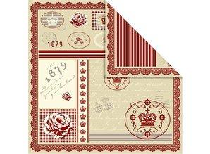DESIGNER BLÖCKE  / DESIGNER PAPER Temmelig designer papir, trykt på begge sider, 30.5x30.5 cm, 5 ark, 120gr.