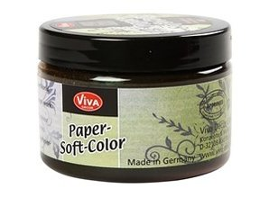 FARBE / INK / CHALKS ... Paper Soft Color, walnut, 75 ml