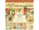Graphic 45 Dodici giorni di Natale - pad carta, 20 x 20 cm