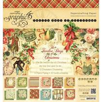 Twelve Days of Christmas - papier pad, 20 x 20cm
