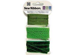 DEKOBAND / RIBBONS / RUBANS ... Ribbon Sortiment greens
