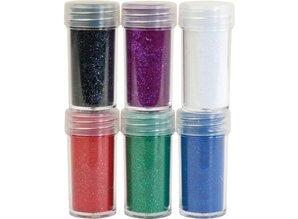 BASTELZUBEHÖR / CRAFT ACCESSORIES Velvet pulver, 6 forskellige farver
