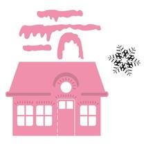 Marianne Design, Stanz- und Prägeschablone, Weihnachtsvilla + Schneestern Stempel