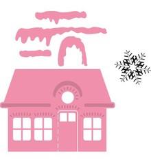 Marianne Design Marianne Progettazione, stampaggio e goffratura cartella, Natale Villa + Schneestern timbro