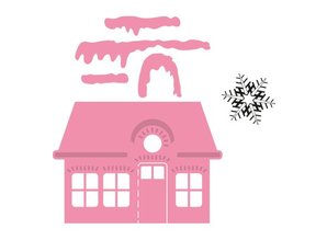 Marianne Design Marianne Design, stamping and embossing folder, christmas Villa + Schneestern stamp