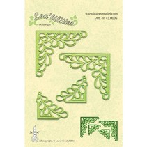 Lea'bilitie, stamping and embossing templates, corner with leaves