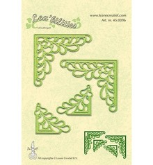 Leane Creatief - Lea'bilities Lea'bilitie, stampaggio e goffratura modelli, ad angolo con foglie