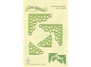 Leane Creatief - Lea'bilities Lea'bilitie, presning og prægning skabeloner, hjørne med blade