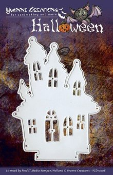 Yvonne Creations Punching and embossing templates, Yvonne Creations - Halloween - Haunted House