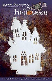 Yvonne Creations Stansning og prægning skabeloner, Yvonne Creations - Halloween - Haunted House