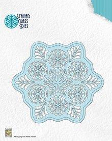 Nellie snellen Nelie Snellen, stampaggio e goffratura modelli, Stained Glass Questo - Fantasy fiore 2