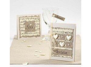 KARTEN und Zubehör / Cards 10 madre de la perla tarjetas y sobres, tamaño tarjeta de 10,5x15 cm, crema