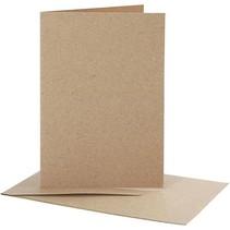 10 tarjetas y sobres, papel kraft