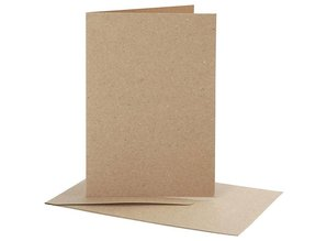 KARTEN und Zubehör / Cards 10 cards and envelopes, kraft paper