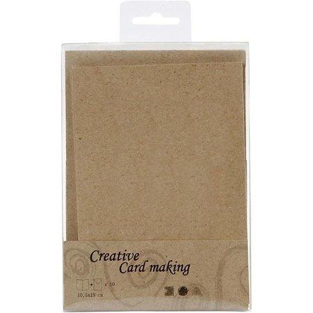 KARTEN und Zubehör / Cards 10 Karten und Umschläge, Kraftpapier