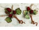Embellishments / Verzierungen Embellishments, Verzierungen, Beere, Farbe Burgundy, 2 Stück