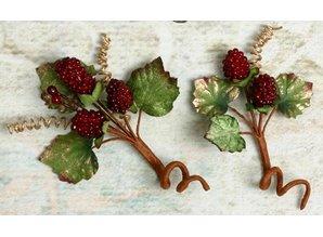 Embellishments / Verzierungen Embellishments, decorations, berry, Color Burgundy, 2 pieces