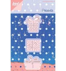 Joy!Crafts und JM Creation Stamping and embossing stencils, 3 Gechenkverpackungen