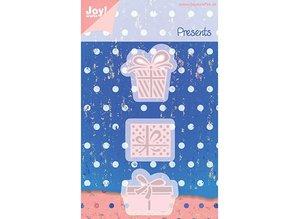 Joy!Crafts und JM Creation Presning og prægning stencils, 3 gaveindpakning