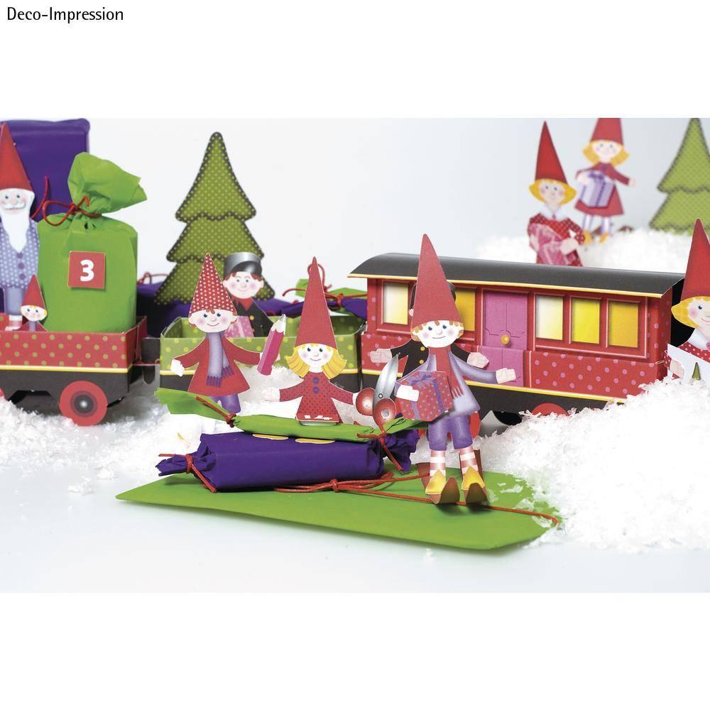 Christmas Train Craft Kit 1 Locomotive Carriage 6 Deco