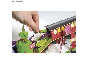 Kinder Bastelsets / Kids Craft Kits Bastelset Christmas Train, 1 Lok,6 Wagen, Deko und Wichtelfamilie