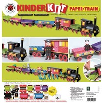Train Craft Kit, 1 locomotive, carriage 6, deco and gnome family