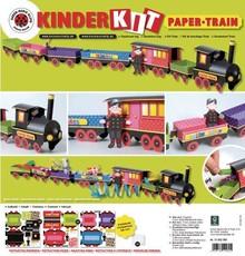 Kinder Bastelsets / Kids Craft Kits Treno Kit Craft, 1 locomotiva, carrozza 6, deco e famiglia gnome