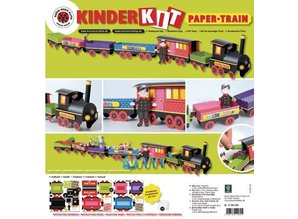 Kinder Bastelsets / Kids Craft Kits Bastelset Train, 1 Lok,6 Wagen, Deko und Wichtelfamilie