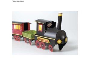 Kinder Bastelsets / Kids Craft Kits Kit Tren Artesanía, 1 locomotora, carro 6, deco y familia gnome