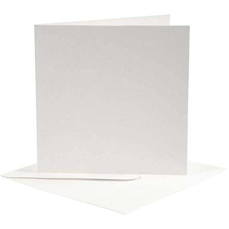 KARTEN und Zubehör / Cards 10 Karten und Umschläge , Kartengröße 12,5x12,5 cm, off-white