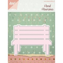 Stamping and embossing stencils, garden bench