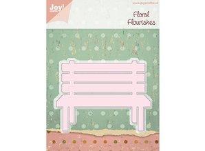 Joy!Crafts und JM Creation Stamping and embossing stencils, garden bench