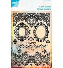 Joy!Crafts und JM Creation Timbri trasparenti, Borders Barocco