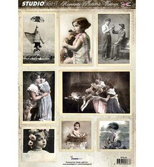 Vintage, Nostalgia und Shabby Shic A4 taglio lamiera - Immagine romantica