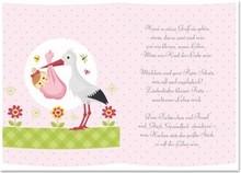 REDDY 5 Transparentpapiere, Bogen A5, Gedichte Geburt Mädchen