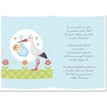 5 Transparant papier, vel A5, gedichten geboorte jongens