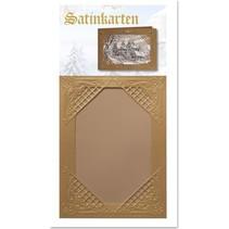 3 tarjetas de oro de invierno de raso