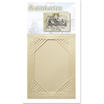 3 Winter satin cream cards