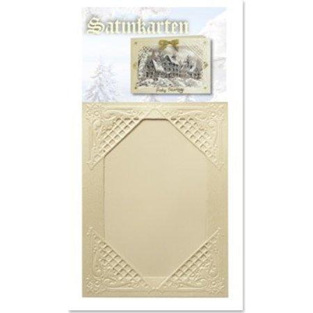 KARTEN und Zubehör / Cards 3 Winter satijn crème kaarten