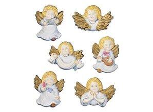 GIESSFORM / MOLDS ACCESOIRES Molds cherubs angels, 6 pieces