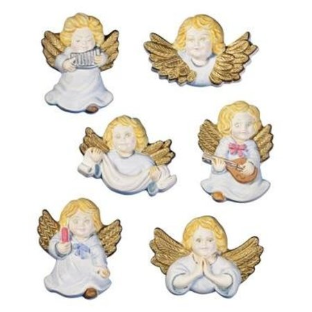 GIESSFORM / MOLDS ACCESOIRES Moldes querubines ángeles, 6 piezas